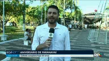No aniversário de Paranavaí, Boa Noite Paraná vai à Praça dos Pioneiros - A edição desta sexta-feira, 14, foi apresentada ao vivo na praça, no Centro da cidade.