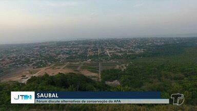 Representantes de entidades discutem preservação ambiental da Serra do Saubal - Os representantes se reuniram nesta sexta-feira (14), durante 2º Fórum em defesa da área de preservação, para discutir o assunto.