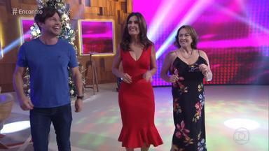 Programa de 17/12/2018 - Fátima Bernardes recebe os atores Erik Marmo e Nívea Maria para um papo sobre família e hábitos alimentares. A música fica por conta da Turma do Pagode
