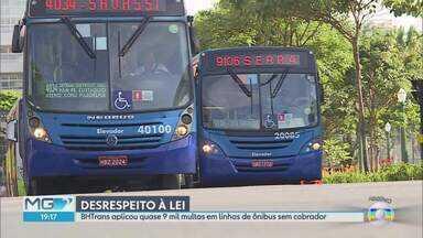 Sindicato admite que empresas de ônibus de BH desrespeitam regra sobre falta de cobrador - Hoje de manhã, o prefeito de Belo Horizonte, Alexandre Kalil (PHS), disse que as empresas, que fazem o querem, iam receber o troco. G1, MG1 e MG2 denunciam a dias o descumprimento do regulamento sore a falta de cobrador nos coletivos.
