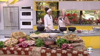 Ana Maria recebe a chef Ariani Malouf na Casa de Cristal - Chef é especialista na cozinha árabe e leva delícias para a apresentadora