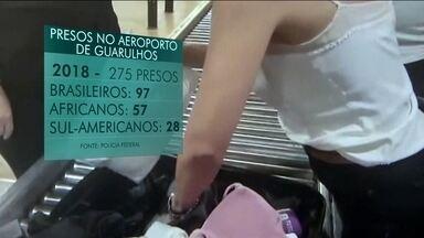 Polícia Federal divulga balanço de apreensões da operação Peregrino - Operação foi realizada no Aeroporto Internacional de Guarulhos, em São Paulo, este ano.