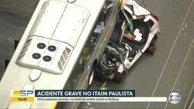 Acidente grave deixa um morto no Itaim Paulista - Acidente foi na Rua Itajuíbe, na Zona Leste