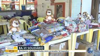 Ba-Vi solidário: bombeiros organizam jogo para arrecadar brinquedos - A ação é dos Bombeiros Militares e da Polícia Militar.