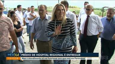 Governo do estado faz entrega oficial do Hospital Regional de Paranavaí - O hospital tem mais de 8 mil metros quadrados e deve entrar em funcionamento em meados de 2019.