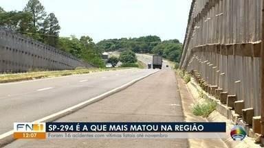 SP-294 é a rodovia com mais mortes no Oeste Paulista em 2018 - Foram 16 acidentes com vítimas fatais até novembro.