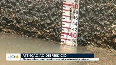 Chuva melhora nível dos rios do Vale do Itajaí, mas exige consumo consciente - Chuva melhora nível dos rios do Vale do Itajaí, mas exige consumo consciente