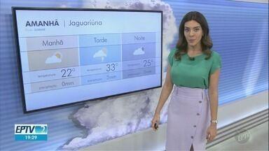 Cidades da região têm temperaturas acima dos 30ºC neste sábado - Campinas (SP) registra máxima de 35ºC.