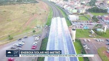 Metrô inaugura estação abastecida com energia solar - O DF tem, agora, duas estações que funcionam com energia solar fotovoltaica: Samambaia Sul e Guariroba, em Ceilândia. De acordo com o Metrô, com as duas estações, serão economizados, em média, R$ 260 mil por ano em gastos com energia.