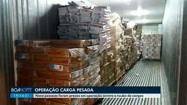 Nove pessoas são presas em operação contra o roubo de cargas em Campo Mourão - Operação carga pesada