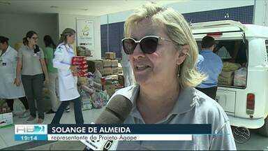 Funcionários da UPAE Garanhuns arrecadam alimentos para doação - Campanha foi feita durante o mês de dezembro.