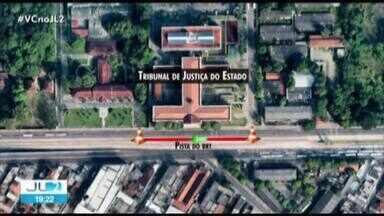 Trecho da pista do BRT na av. Almirante Barroso em Belém é interditado - O motivo são obras da Cosanpa no local.