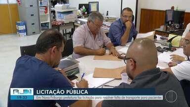 Prefeitura de Nova Friburgo faz licitação para resolver falta de transporte para pacientes - Assista a seguir.