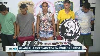Quadrilha é presa suspeita de usar carro alugado para cometer roubos em Manaus - Grupo já somava lucro de mais de R$ 100 mil em pouco mais de dois meses.