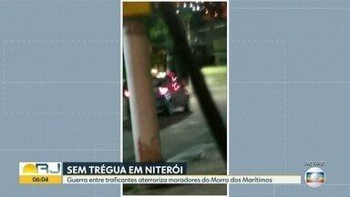 Guerra entre traficantes aterroriza moradores do Morro dos Marítimos, em Niterói - Os moradores disseram que já faz uma semana que os tiroteios não dão trégua no Morro dos Marítimos, no bairro do Barreto, em Niterói.
