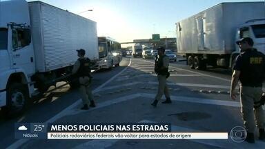 Policiais rodoviários que reforçam patrulhamento no RJ vão voltar pros seus estados - Convênio do governo do Rio com a PRF dura até o dia 31/12. Governador eleito, Wilson Witzel disse que vai pedir prorrogação do convênio.