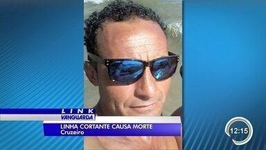Motociclista morre atingido por linha de pipa - Acidente aconteceu em Cruzeiro.