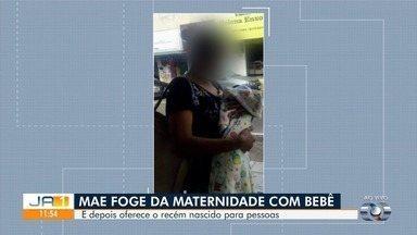Mãe é suspeita de fugir de hospital com bebê e depois oferecê-lo a desconhecidos em Goiás - Caso é investigado pela Polícia Civil.