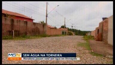 Reportagem percorre bairros de Divinópolis para mostrar como anda a falta de água - Muitos passaram o fim de semana e o Natal nesta situação. Em entrevista ao MG1, o gerente de distrito da Copasa comentou o caos que a cidade tem vivido.