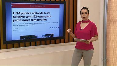 UEM abre concurso para professores temporários - Os salários podem passar dos R$ 8.000,00.