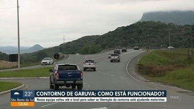 Como está o trânsito no contorno de Garuva após liberação - Como está o trânsito no contorno de Garuva após liberação.
