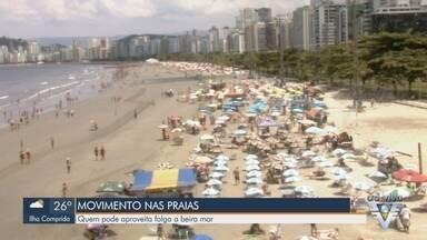 Praias da região devem ser os locais mais procurados no fim de ano - Moradores e turistas poderão aproveitar o calor da Baixada Santista.
