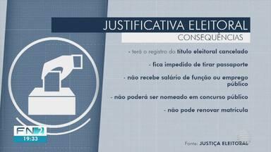 Prazo para justificar ausência no 2º turno das eleições termina nesta quinta-feira - Procedimento deve ser feito pela internet.