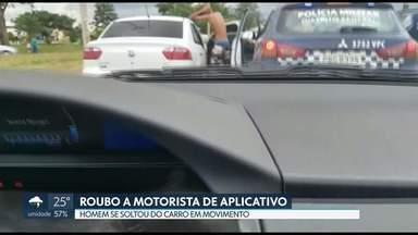 Motorista de aplicativo é vítima de roubo na noite de natal em Samambaia - O carro dele foi localizado hoje com 2 suspeitos.