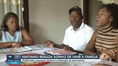 Com mobilização de moradores, haitiano reconstrói família em Joinville - Com mobilização de moradores, haitiano reconstrói família em Joinville
