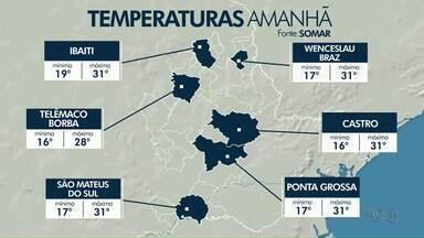 Sol predomina nos próximos dias na região dos Campos Gerais - Confira a previsão do tempo.