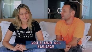 Fernanda Gentil revela vontade de ter filho com Priscila Montandon - Apresentadora conta 10 curiosidades para Matheus Mazzafera e revela mania ao entrar em hotéis