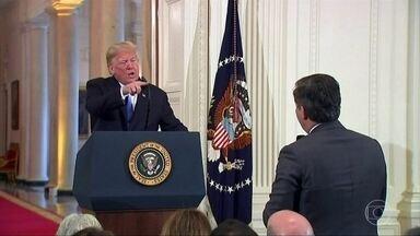Donald Trump: o personagem que dominou a cena política mundial em 2018 - Surpreendendo a cada decisão, presidente dos Estados Unidos desfez acordo nuclear com o Irã, se envolveu em escândalo sexual e apertou a mão a Kim Jong-un.