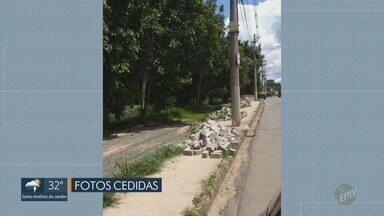 Obras da Ciclofaixa estão há oito meses atrasadas em Pedreira (SP) - As obras que começaram em Novembro de 2017 deveriam ter terminado em Maio do ano passado, porém continuam inacabadas.