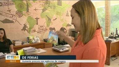 Agências de viagem registram aumento da procura por pacotes em Cachoeiro, ES - .