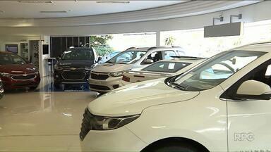 Venda de carros cresce em 2018 no Paraná - Aumento foi de 16% em 2018 se comparado com 2017.