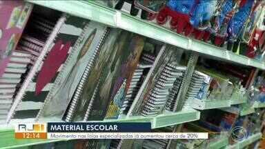 Lojas de materiais escolares registram aumento de cerca de 20% em Volta Redonda - Procon diz o que pode e o que não pode estar na lista