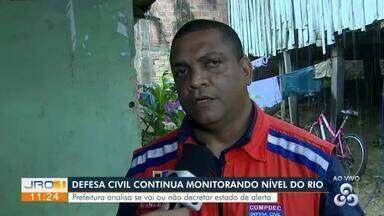 Defesa civil continua monitorando nível do Rio Madeira - Prefeitura analisa se vai ou não decretar estado de alerta.