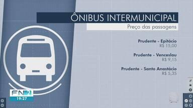 Aumento das tarifas de pedágios altera preços das passagens de ônibus intermunicipais - Reajuste médio para as viagens na região foi de R$ 0,05.