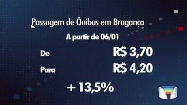 Tarifa de ônibus vai a R$ 4,20 a partir de domingo em Bragança Paulista - Aumento é de R$ 0,50. O último reajuste na passagem ocorreu em fevereiro de 2016.