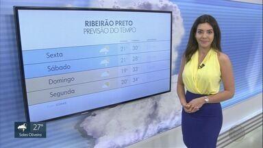 Veja a previsão do tempo para esta sexta-feira (4) na região de Ribeirão Preto - A previsão é de chuva a qualquer hora do dia.