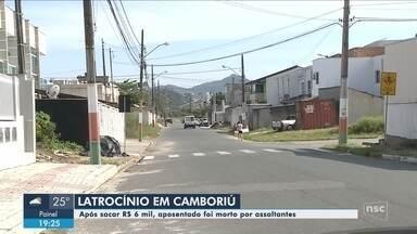 Aposentado é morto por assaltantes em Camboriú - Aposentado é morto por assaltantes em Camboriú