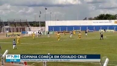 Osvaldo Cruz sedia primeiras partidas da Copinha - Time da cidade empatou com o Mirassol.