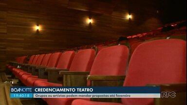 Prefeitura de Guarapuava credencia grupos e artistas para apresentações no Teatro - Os interessados podem se inscrever até primeiro de fevereiro.