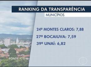 Montes Claros ocupa a 24ª posição no ranking da transparência no estado - Lei obriga municípios a publicarem atos e gastos em um portal na internet.
