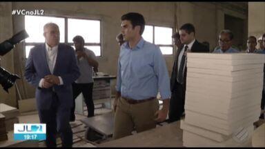 Governador Helder Barbalho realiza vistoria técnica no hopital Aberlardo Santos - Segundo o governador, a conclusão do hospital é uma das prioridades da gestão