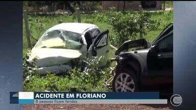 Acidente deixa oito pessoas feridas na BR 343 no Sul do Piauí - Acidente deixa oito pessoas feridas na BR 343 no Sul do Piauí