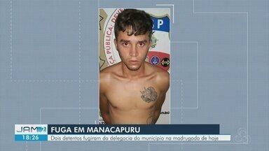 Presos fogem de delegacia em Manacapuru - Dois detentos fugiram da delegacia do município na madrugada de hoje