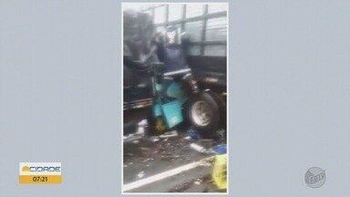 Acidente entre três caminhões deixa quatro mortos e um ferido na BR-354 - Acidente entre três caminhões deixa quatro mortos e um ferido na BR-354