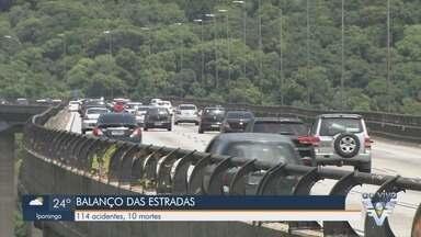 Polícia Rodoviária divulga balanço de ocorrências durante feriados de fim de ano - Rodovias da região registram aumento no número de acidentes e vítimas.