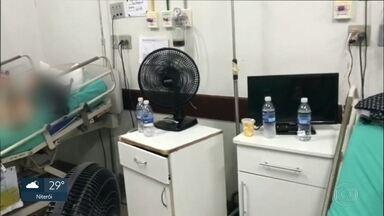 Ar condicionado não funciona em quatro hospitais estaduais do RJ - O calor tem piorado ainda mais a situação dos hospitais estaduais. Tanto que, na hora da internação, um ventilador portátil é quase um item obrigatório para ser levado na hora da internação.
